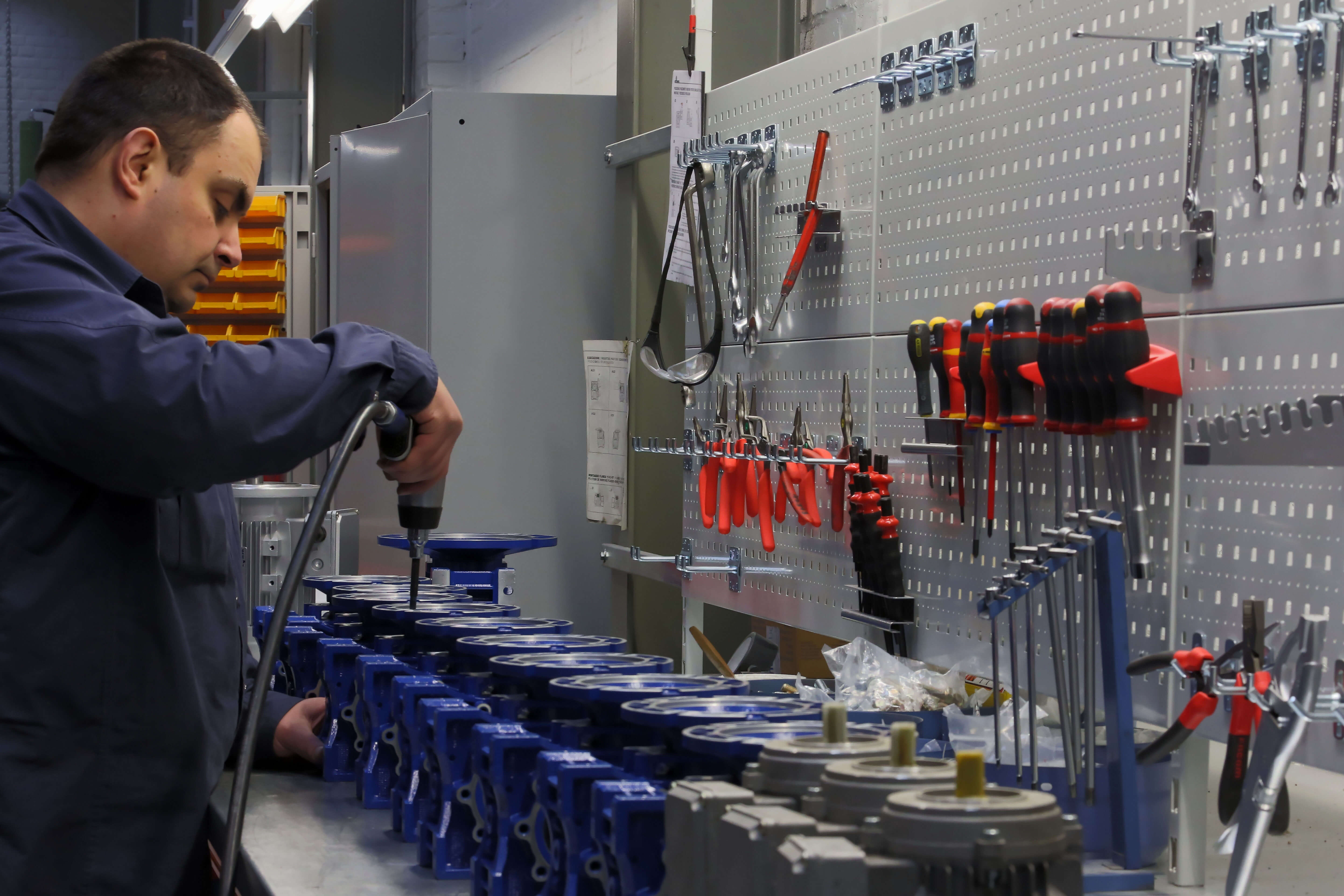 The largest gear motor assembly plant in Belgium
